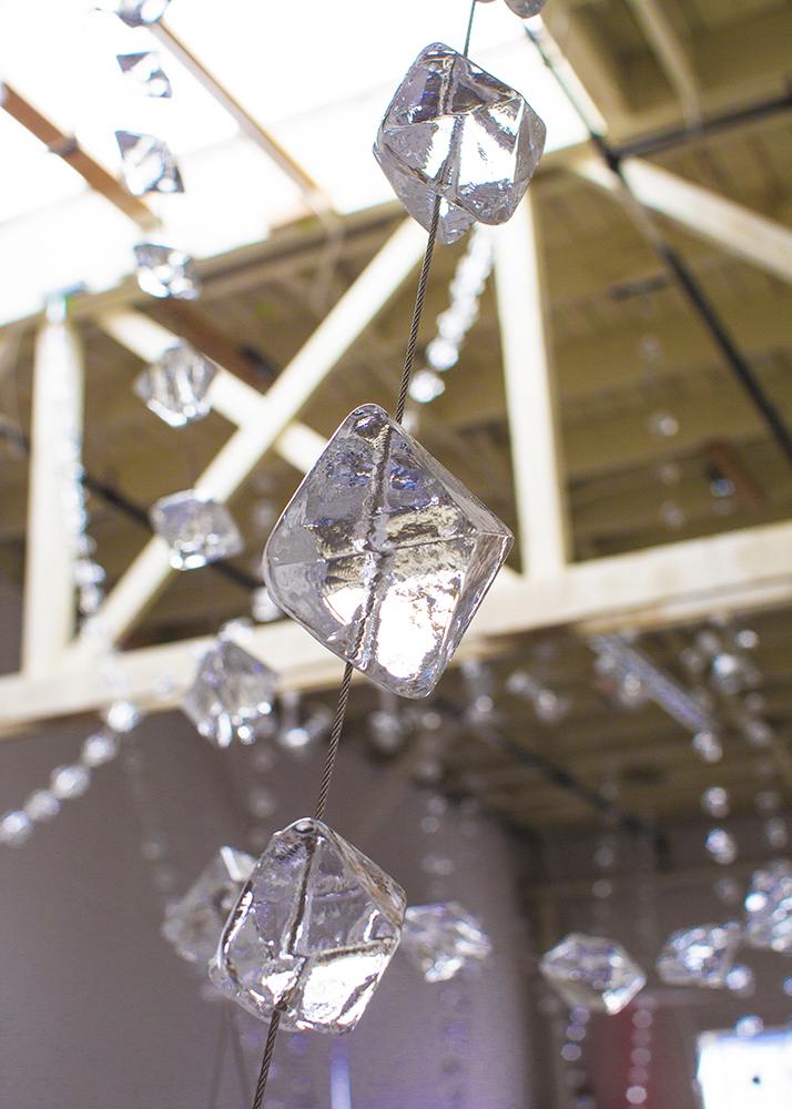 "Studio Mock-up of ""Crystals"" (Hayward Library's Suspended Sculpture)"